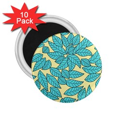Leaves Dried Leaves Stamping 2 25  Magnets (10 Pack)  by Nexatart
