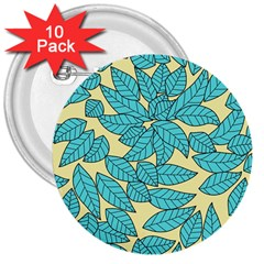 Leaves Dried Leaves Stamping 3  Buttons (10 Pack)