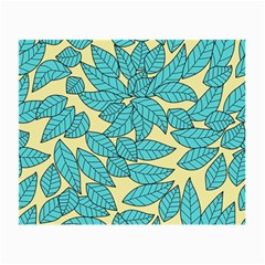 Leaves Dried Leaves Stamping Small Glasses Cloth (2 Side) by Nexatart