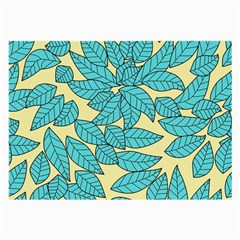Leaves Dried Leaves Stamping Large Glasses Cloth (2 Side) by Nexatart