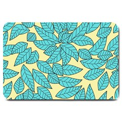 Leaves Dried Leaves Stamping Large Doormat  by Nexatart