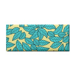 Leaves Dried Leaves Stamping Hand Towel by Nexatart