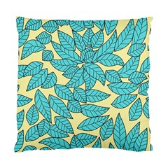 Leaves Dried Leaves Stamping Standard Cushion Case (two Sides) by Nexatart