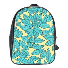 Leaves Dried Leaves Stamping School Bag (large)