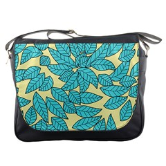 Leaves Dried Leaves Stamping Messenger Bag by Nexatart