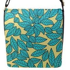 Leaves Dried Leaves Stamping Flap Closure Messenger Bag (s) by Nexatart