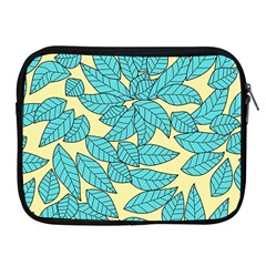 Leaves Dried Leaves Stamping Apple Ipad 2/3/4 Zipper Cases by Nexatart