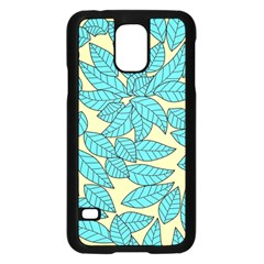 Leaves Dried Leaves Stamping Samsung Galaxy S5 Case (black) by Nexatart