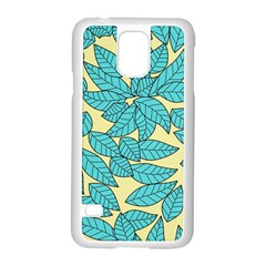 Leaves Dried Leaves Stamping Samsung Galaxy S5 Case (white) by Nexatart