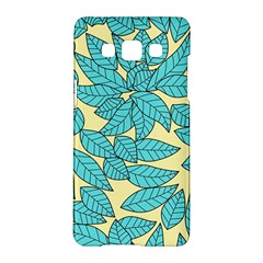 Leaves Dried Leaves Stamping Samsung Galaxy A5 Hardshell Case  by Nexatart