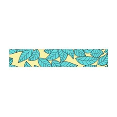 Leaves Dried Leaves Stamping Flano Scarf (mini) by Nexatart