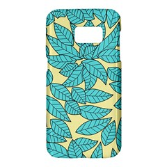Leaves Dried Leaves Stamping Samsung Galaxy S7 Hardshell Case  by Nexatart