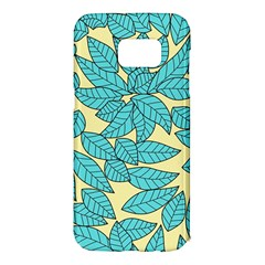 Leaves Dried Leaves Stamping Samsung Galaxy S7 Edge Hardshell Case by Nexatart