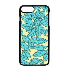 Leaves Dried Leaves Stamping Apple Iphone 7 Plus Seamless Case (black) by Nexatart
