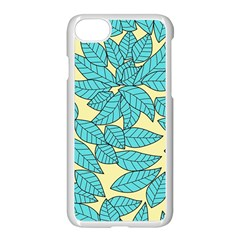 Leaves Dried Leaves Stamping Apple Iphone 7 Seamless Case (white) by Nexatart