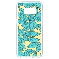 Leaves Dried Leaves Stamping Samsung Galaxy S8 White Seamless Case by Nexatart
