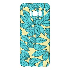 Leaves Dried Leaves Stamping Samsung Galaxy S8 Plus Hardshell Case  by Nexatart