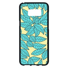 Leaves Dried Leaves Stamping Samsung Galaxy S8 Plus Black Seamless Case
