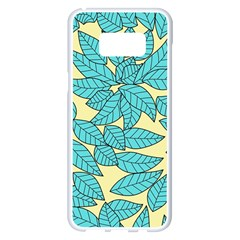 Leaves Dried Leaves Stamping Samsung Galaxy S8 Plus White Seamless Case by Nexatart