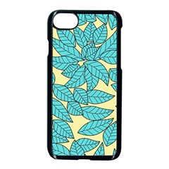 Leaves Dried Leaves Stamping Apple Iphone 8 Seamless Case (black) by Nexatart