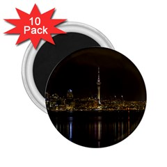 City River Water Cityscape Skyline 2 25  Magnets (10 Pack)