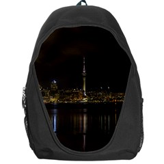 City River Water Cityscape Skyline Backpack Bag