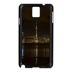 City River Water Cityscape Skyline Samsung Galaxy Note 3 N9005 Case (black)