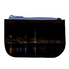 City River Water Cityscape Skyline Large Coin Purse