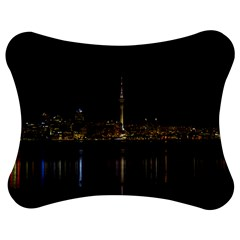 City River Water Cityscape Skyline Jigsaw Puzzle Photo Stand (bow) by Nexatart