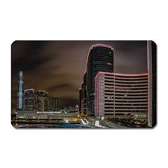 Hong Kong At Night Skyline Magnet (rectangular)