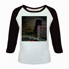 Hong Kong At Night Skyline Kids Baseball Jerseys