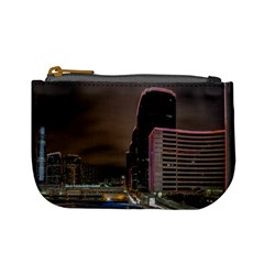 Hong Kong At Night Skyline Mini Coin Purse
