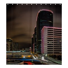Hong Kong At Night Skyline Shower Curtain 66  X 72  (large)