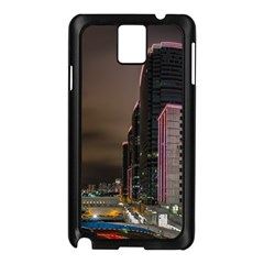 Hong Kong At Night Skyline Samsung Galaxy Note 3 N9005 Case (black)