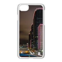 Hong Kong At Night Skyline Apple Iphone 8 Seamless Case (white)