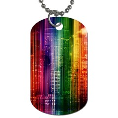 Skyline Light Rays Gloss Upgrade Dog Tag (one Side)
