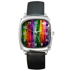 Skyline Light Rays Gloss Upgrade Square Metal Watch