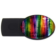 Skyline Light Rays Gloss Upgrade Usb Flash Drive Oval (4 Gb)