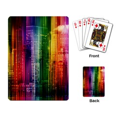 Skyline Light Rays Gloss Upgrade Playing Cards Single Design