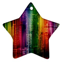 Skyline Light Rays Gloss Upgrade Star Ornament (two Sides)
