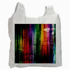 Skyline Light Rays Gloss Upgrade Recycle Bag (one Side)