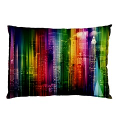 Skyline Light Rays Gloss Upgrade Pillow Case (two Sides)