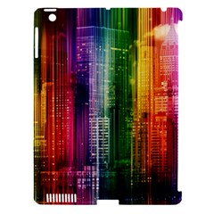 Skyline Light Rays Gloss Upgrade Apple Ipad 3/4 Hardshell Case (compatible With Smart Cover)