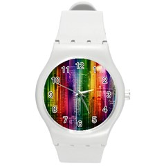 Skyline Light Rays Gloss Upgrade Round Plastic Sport Watch (m)