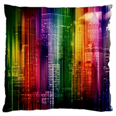 Skyline Light Rays Gloss Upgrade Large Cushion Case (one Side)