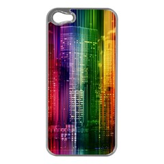 Skyline Light Rays Gloss Upgrade Apple Iphone 5 Case (silver)