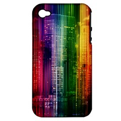 Skyline Light Rays Gloss Upgrade Apple Iphone 4/4s Hardshell Case (pc+silicone)