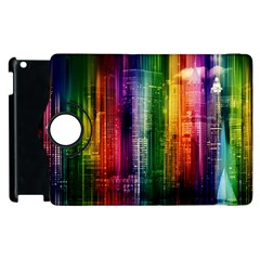 Skyline Light Rays Gloss Upgrade Apple Ipad 3/4 Flip 360 Case