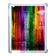 Skyline Light Rays Gloss Upgrade Apple Ipad 3/4 Case (white)