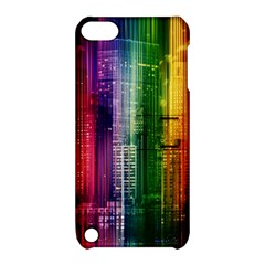 Skyline Light Rays Gloss Upgrade Apple Ipod Touch 5 Hardshell Case With Stand